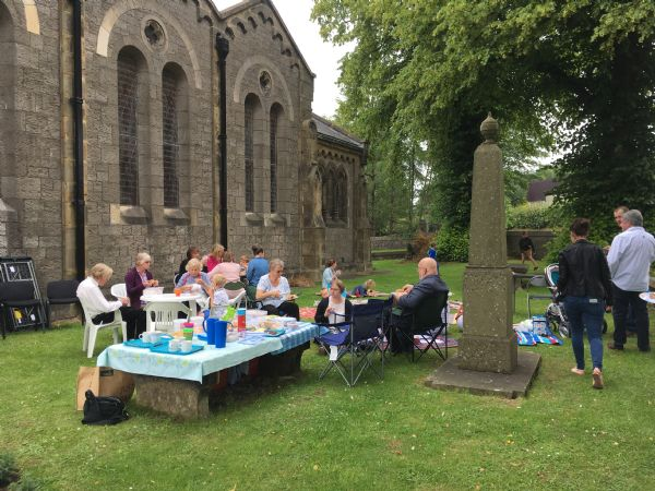 Picnic in church grounds