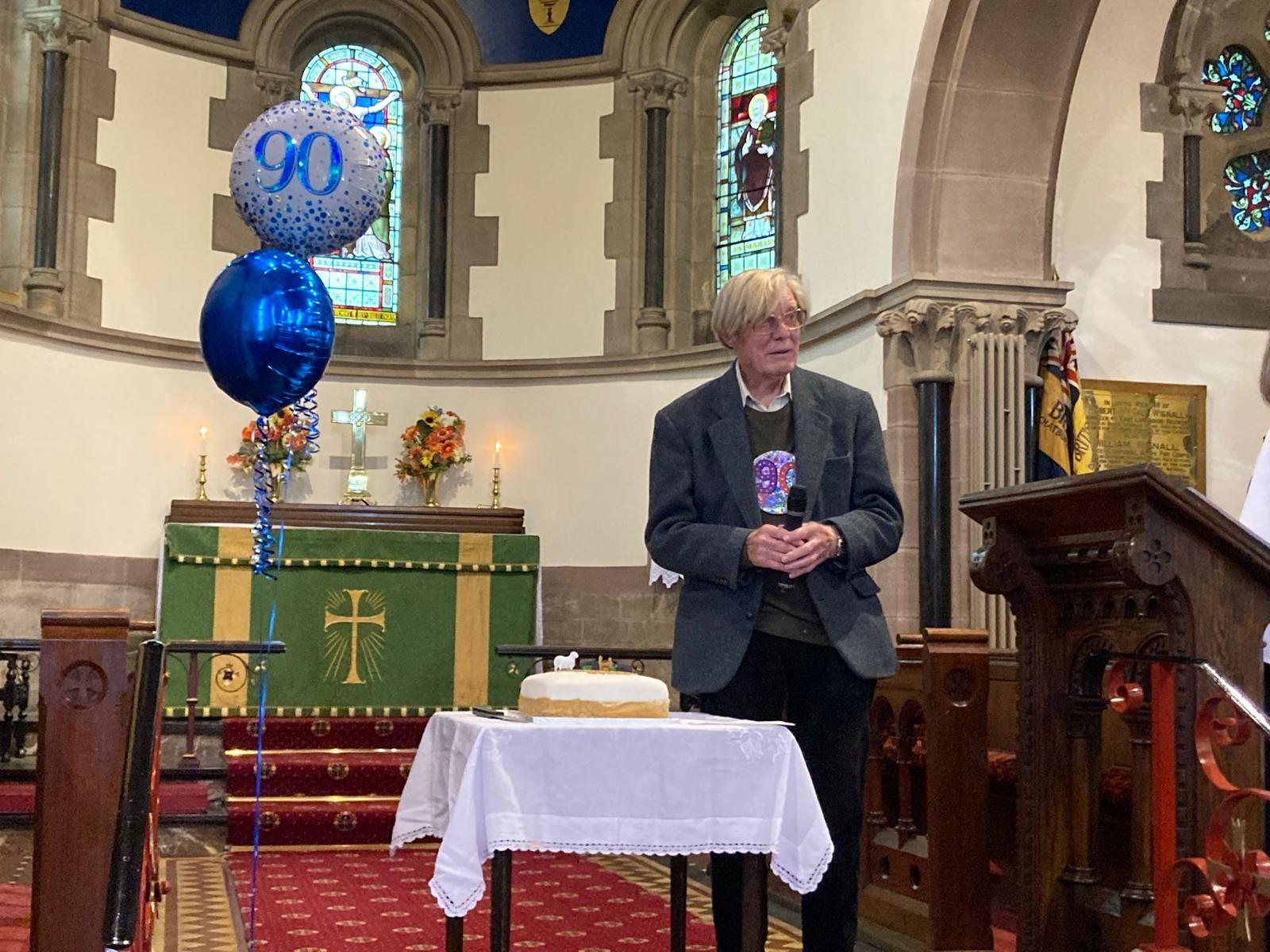 Derek with birthday cake