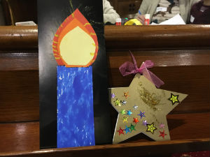 Messy Church big candle and star