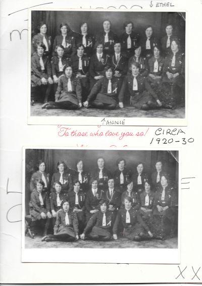 Old Photograph of Girl Guides circa 1920 - 30