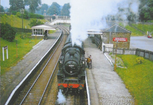 Chatburn Station with Steam Train