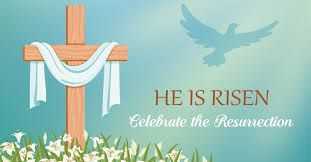 he is risen cross celebration