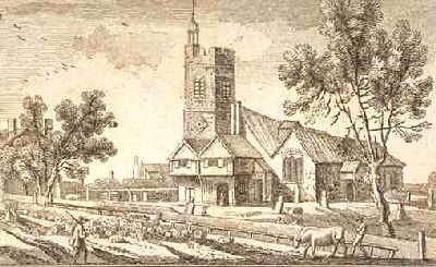 Old St Marys Islington c.1750