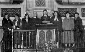 The pulpit prior to the reordering of the church in 1976.