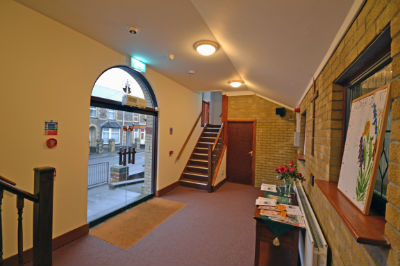 Front entrance vestibule