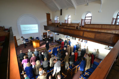 People in a church service