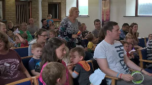 Our first messy church was very popular