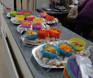 Food prepared for Messy church