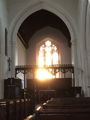 All Saints' Church Easter light