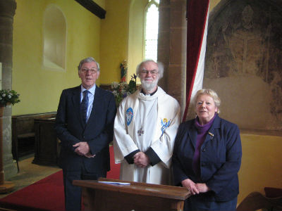 Dr Rowan Williams with Sarah and Brian