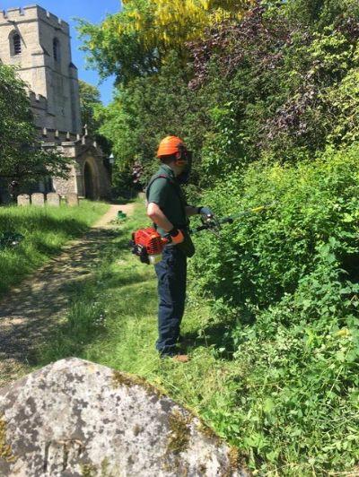 Churchyard clearing