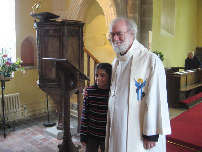 Dr Rowan Williams with Lucy