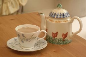 Produce sale cup of tea from FreeFoto.com