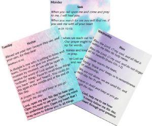 3 prayer cards