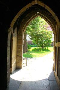 open church door looking out