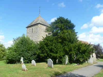 All Saints Iwade - blue sky