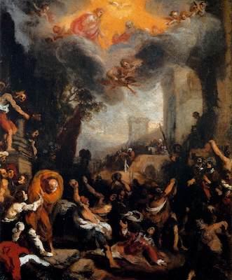 The Stoning of St Stephen, Caroli 1597 (Pitti Palace)