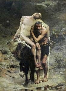 """""""Good Samaritan"""" by Aimé Morot (1880)"""