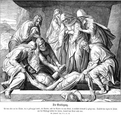 Jesus entombed