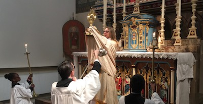 Elevation of the monstrance