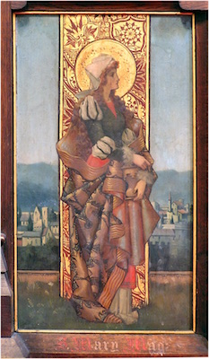 Mary Magdalene on the chancel screen