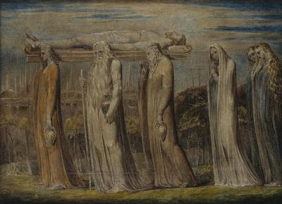 Christ borne to the tomb (William Blake)
