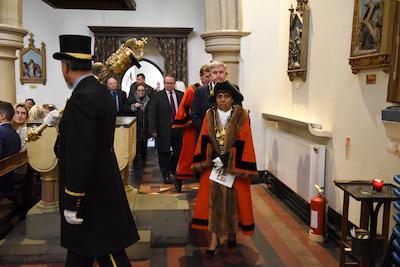 The mayor's procession