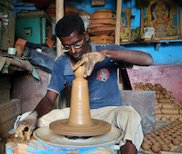 Potter in Bangalore. Wikimedia Commons