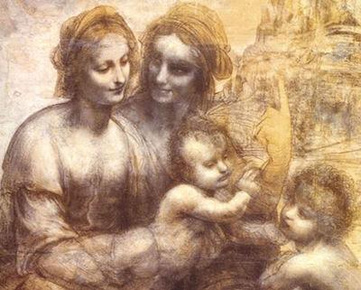 The Virgin and Child with St Anne and St John the Baptist Leonardo Da Vinci, the Burlington House cartoon, 1499
