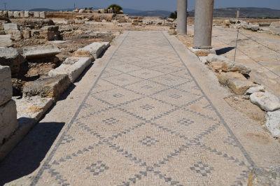 Mosaic floor near the Cardo
