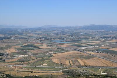 Jezreel plain. View from Mt Carmel
