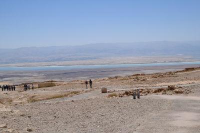 Looking across the Dead Sea towards Jordan
