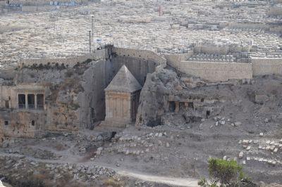 Zachariahs tomb, in the Kidron Valley