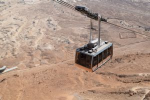 Cable car to the summit of Masada