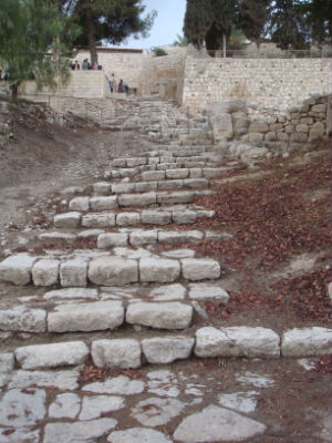 Steps leading to the Kidron Valley