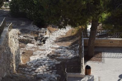 Steps from the Kidron Valley leading to the possible site of the High Priest's House (Caiaphas)