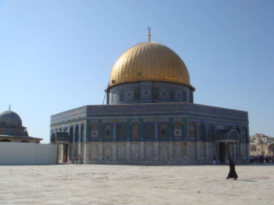 Temple Mount built on the summit of Mount Mariah