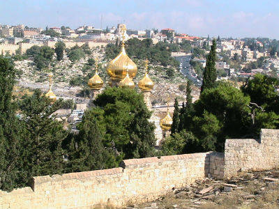 Russian Orthodox Church of St Mary Magdalene on the Mount of Olives