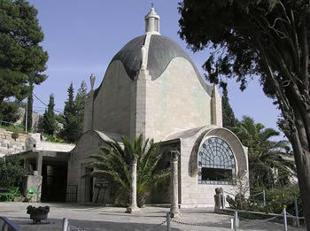 Dominus Flevit Church on the Mount of Olives which commemorates when Jesus wept over the City of Jerusalem and foretold its destruction