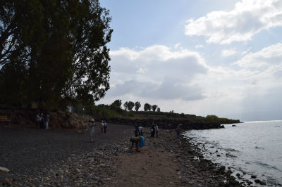 On the shore of the Galilee