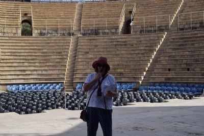 Inside the Amphitheatre at Caesarea