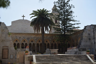 """The Church of the Pater Noster. Here on the Mount of Olives,according to tradition, Jesus taught his Disciples """"The Lord's Prayer"""""""