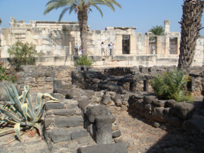 At Capernaum Jesus made his home and base for his ministry in the Galilee