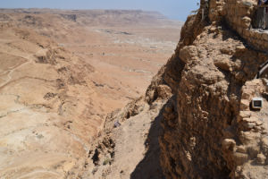 Looking down from Masada