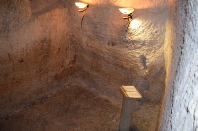 The dungeon where Jesus would have been kept.
