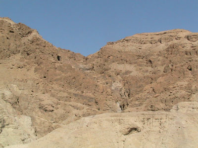 Caves at Qumran where the Dead Sea Scrolls were discovered