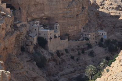 Monastery of St George in the Wadi Kelt Valley near Jericho