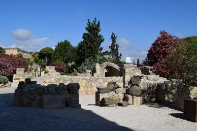 Church gardens on Mount Tabor