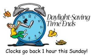 clocks go back