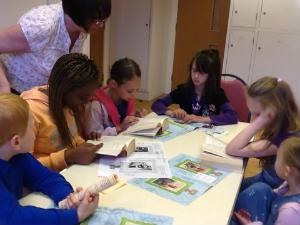 children in Sunday School